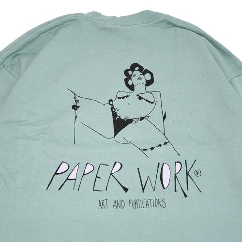 "【Prime LIMITED】 PAPER WORK NYC ロングスリーブ ""TAKE CARE L/S TEE - SEAFORM"""