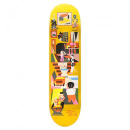 "POLAR SKATE CO デッキ DANE BRADY ""HYPERGAMY YELLOW - 8.125"""