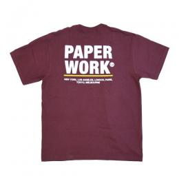 "【Prime LIMITED】 PAPER WORK NYC Tシャツ ""STANDARD ISSUE S/S TEE - PLUM"""