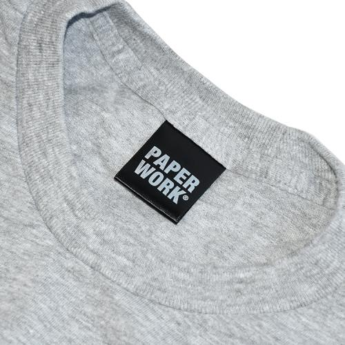 "【Prime LIMITED】 PAPER WORK NYC Tシャツ ""UNIVERSITY S/S TEE - GREY"""