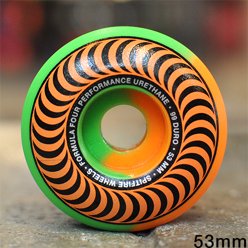 "SPITFIRE ウィール TEAM ""F4 CLASSIC 50/50 ORANGE GREEN - 53MM / 99A""/SPITFIRE"
