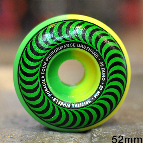 "SPITFIRE ウィール TEAM ""F4 CLASSIC 50/50 GREEN YELLOW - 52MM / 99A""/SPITFIRE"