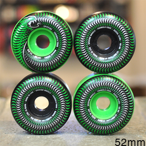"SPITFIRE ウィール TEAM ""F4 RADIAL SLIM VENOMOUS GREEN BLACK MUSHUP - 52MM / 101A""/SPITFIRE"