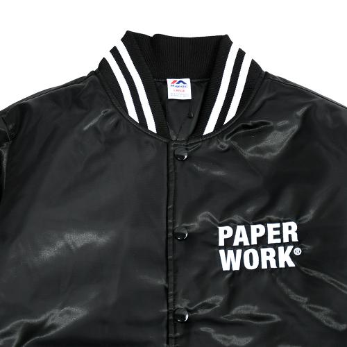 "【Prime LIMITED】 PAPER WORK NYC スタジアムジャケット ""MAJESTIC JACKET - BLACK"""