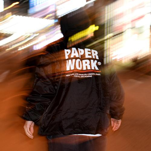 "【Prime LIMITED】 PAPER WORK NYC コーチジャケット ""STANDARD ISSUE COACH - BLACK"""