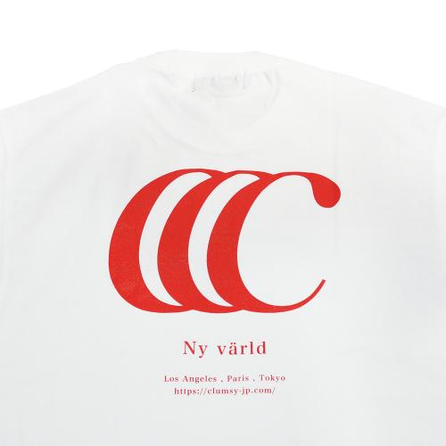"clumsy. Pictures Tシャツ ""LIMITED CCC S/S TEE - WHITE/RED"""