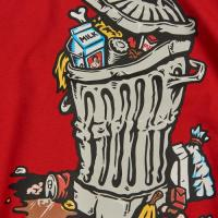 "POLAR SKATE CO Tシャツ ""TRASH CAN TEE - RED"""