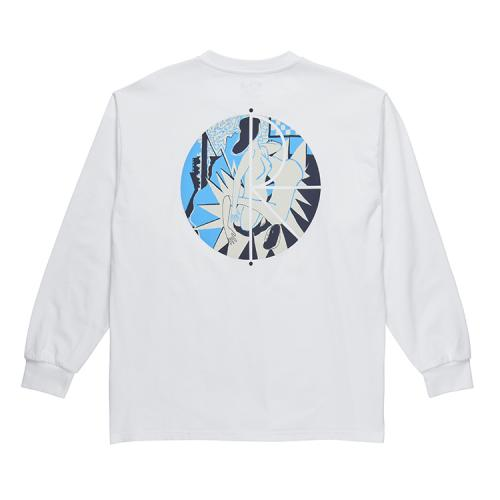 "POLAR SKATE CO ロングスリーブTシャツ ""69 FILL LOGO L/S - WHITE""/POLAR SKATE CO"