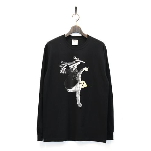 "TIGHTBOOTH PRODUCTION ロングスリーブTシャツ ""LA FRANCE MAN L/S - BLACK""/TBPR"