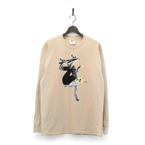"TIGHTBOOTH PRODUCTION ロングスリーブTシャツ ""LA FRANCE MAN L/S - SAND""/TBPR"