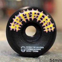 "SPITFIRE ウィール BOBBY DE KEYZER ""F4 CONICAL FULL TWO STROKE BLACK - 54MM / 99A"""