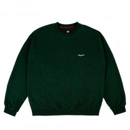 "MAGENTA スエット ""CURSIVE CREW SWEAT - GREEN"""