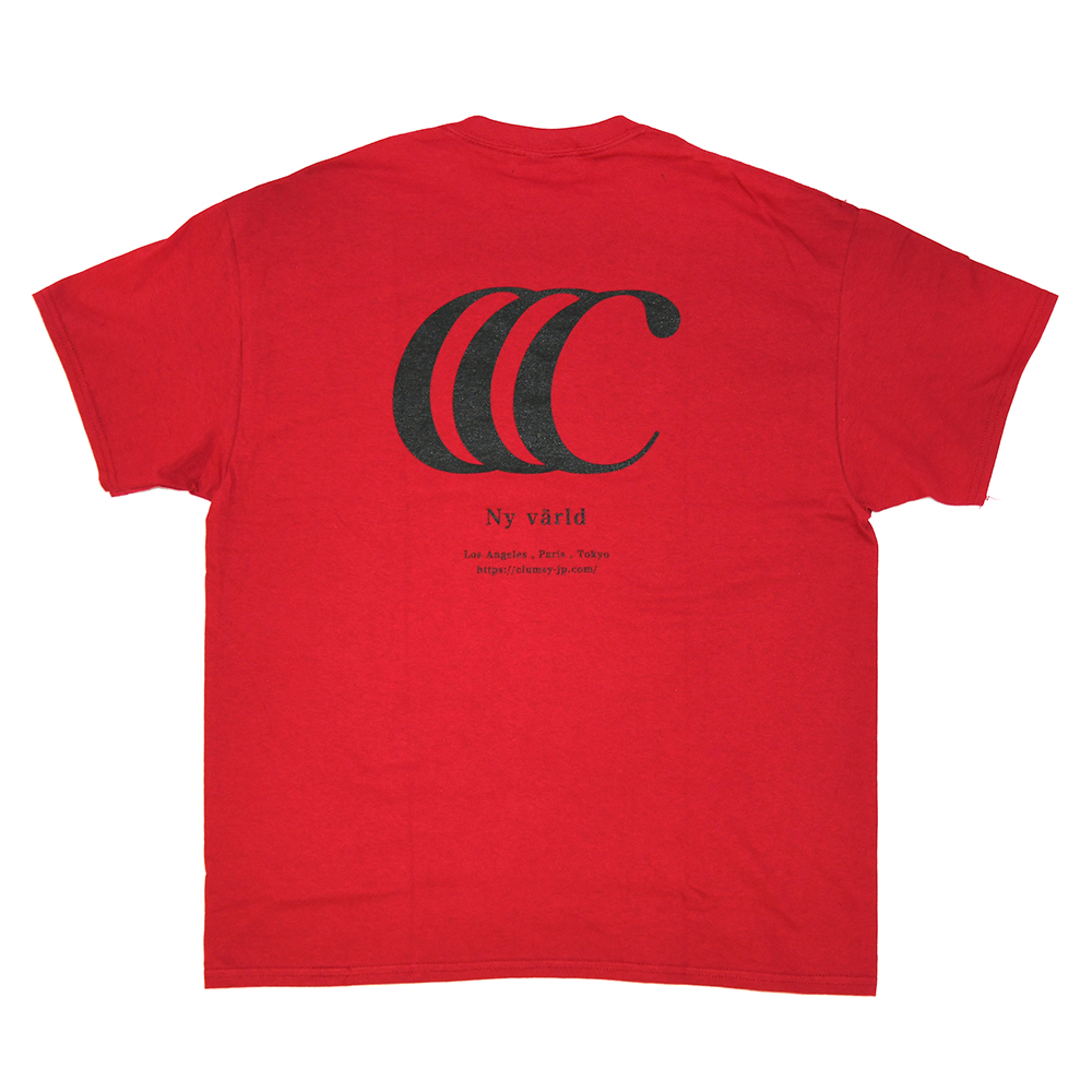 "【Prime EXCLUSIVE】 clumsy. Pictures Tシャツ ""LIMITED CCC S/S TEE - DARK CHERRY"""