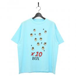 "10匣 Tシャツ ""TENBOX PACKING BRODIE TEE - LT BLUE"""