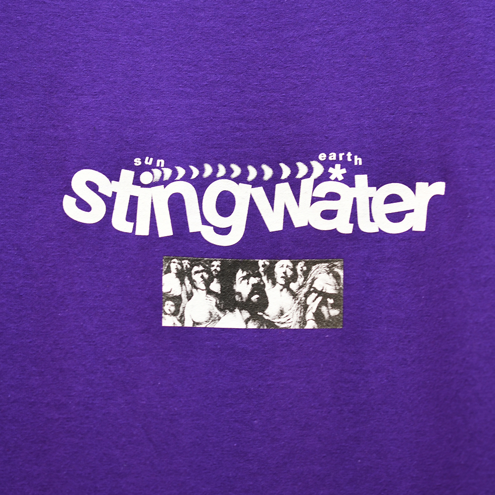 "STING WATER Tシャツ ""DIAGRAM S/S TEE- PURPLE"""