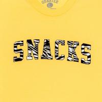 "QUARTER SNACKS Tシャツ ""SNACKS VARSITY TEE (20SU) - LIGHT YELLOW"""
