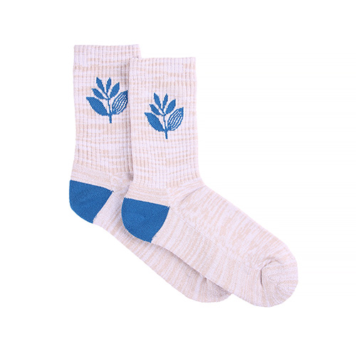 "MAGENTA ソックス ""PLANT SOCKS (SU19) - WHITE/BLUE"""