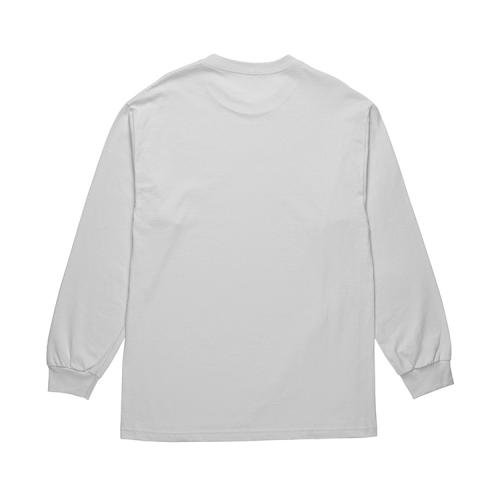 "POLAR SKATE CO ロングスリーブTシャツ ""STRAGHT FROM THE HOOD L/S - ICE GREY"""