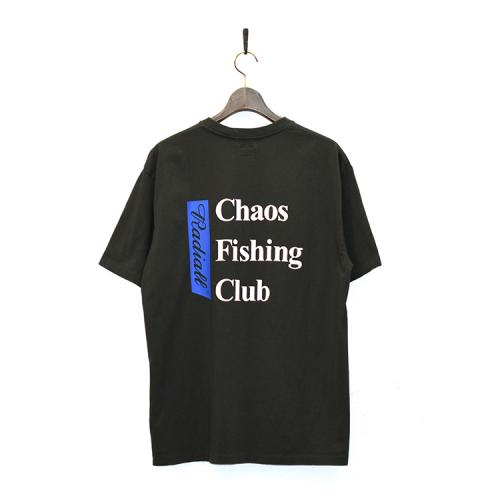 "RADIALL x CHAOS FISHING CLUB Tシャツ ""BLUE HOURS CREW NECK S/S - BLACK""/CHAOS FISHING CLUB"