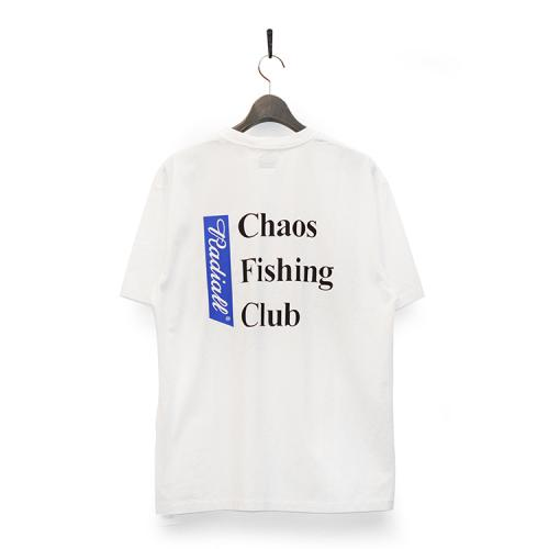 "RADIALL x CHAOS FISHING CLUB Tシャツ ""BLUE HOURS CREW NECK S/S - WHITE""/CHAOS FISHING CLUB"