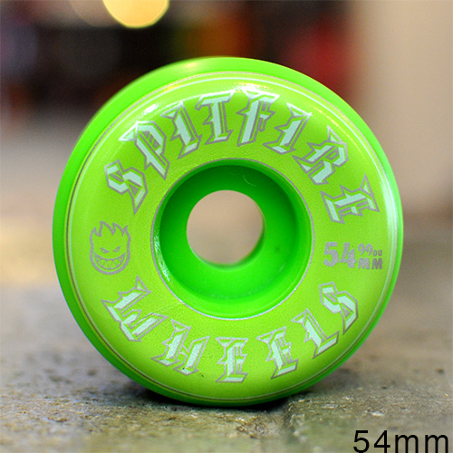 "SPITFIRE ウィール TEAM ""SFW OLD ENGLISH GREEN - 54MM / 99A""/SPITFIRE"