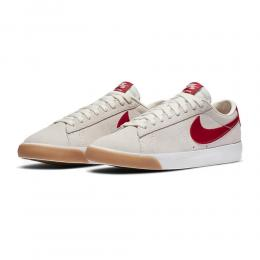 "NIKE SB スケートボードシューズ ""ZOOM BLAZER LOW GT - SAIL/CARDINAL RED/WHITE"""