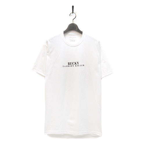 BECKY FACTORY Tシャツ FASHION KILLER TEE - WHITE/BECKY FACTORY