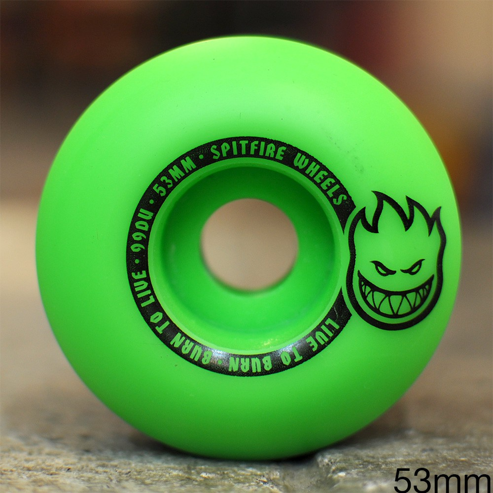 "SPITFIRE ウィール TEAM ""SCORCHERS GREEN/BLACK - 53MM / 99A"""