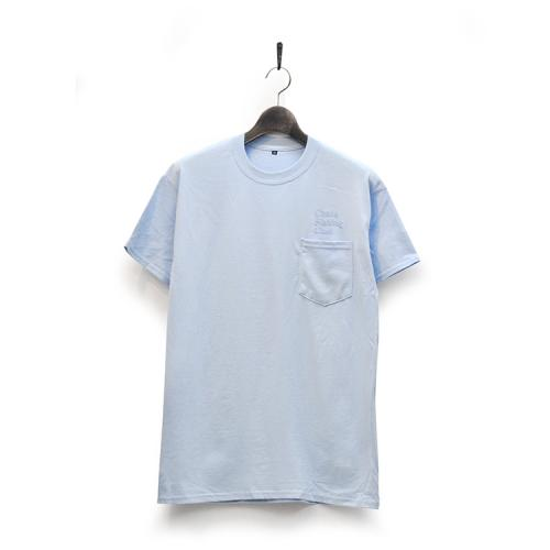 "CHAOS FISHING CLUB Tシャツ ""CFC EMB(刺繍) POCKET TEE - LIGHT BLUE""/CHAOS FISHING CLUB"