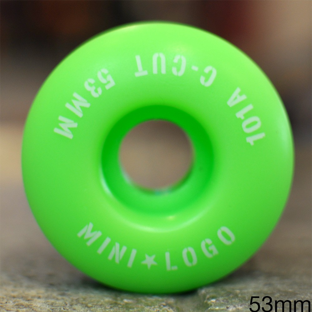 "MINI LOGO ウィール TEAM ""C-CUT2 GREEN - 53MM / 101A"""