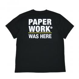 "【Prime LIMITED】 PAPER WORK NYC Tシャツ ""STANDART ISSUE WAS HERE S/S TEE - BLACK"""