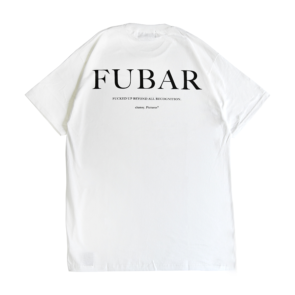 "clumsy. Pictures Tシャツ ""FUBAR S/S TEE - WHITE""/clumsy. PICTURES"