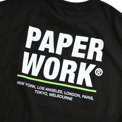 "PAPER WORK NYC Tシャツ ""STANDARD ISSUE S/S TEE - BLACK"""