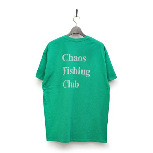"CHAOS FISHING CLUB Tシャツ ""Kenzai. Depot LTD CFC LOGO TEE - GREEN""/CHAOS FISHING CLUB"