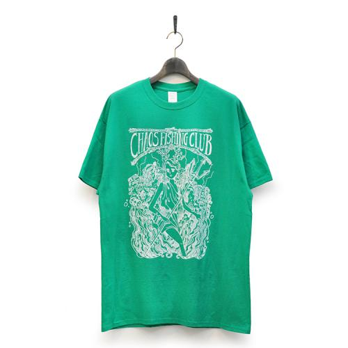"CHAOS FISHING CLUB Tシャツ ""Kenzai. Depot LTD 女 TEE - GREEN""/CHAOS FISHING CLUB"
