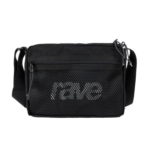 RAVE ショルダーバッグ SHOULDER BAG  - BLACK/RAVE