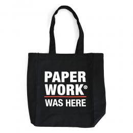 "【Prime LIMITED】 PAPER WORK NYC トートバッグ ""WAS HERE TOTE BAG - BLACK"""