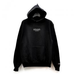 "GRAND COLLECTION パーカー ""CORE HOODY - BLACK"" (US CHAMPIONボディ仕様)"