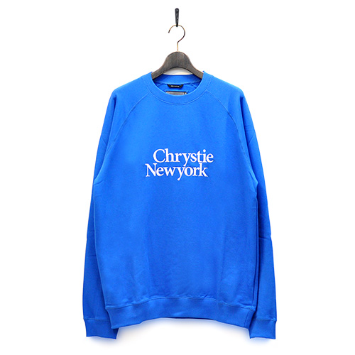 "CHRYSTIE NYC スエット ""PREMIUM CREWNECK - ROYAL BLUE""/CHRYSTIE NYC"