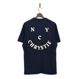 "CHRYSTIE NYC Tシャツ ""SMILE LOGO TEE - NAVY"""