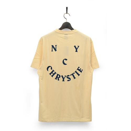 "CHRYSTIE NYC Tシャツ ""SMILE LOGO TEE - NAVY""/CHRYSTIE NYC"