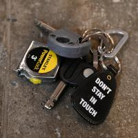 "PAPER WORK NYC アクセサリー ""DON'T STAY IN TOUCH KEY CHAIN - BLACK"""