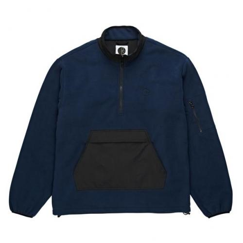 "POLAR SKATE CO ジャケット ""GONZALEZ FLEECE PULLOVER JACKET - NAVY/BLACK"""