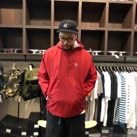 "POLAR SKATE CO ジャケット ""RIPSTOP ANORAK - RED"""