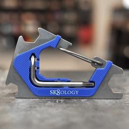 "SK8OLOGY TOOL ""CARABINER 2.0 - SILVER/BLUE"""