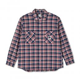 "POLAR SKATE CO シャツ ""FLANNEL SHIRT (20FA) - NAVY/RED"""