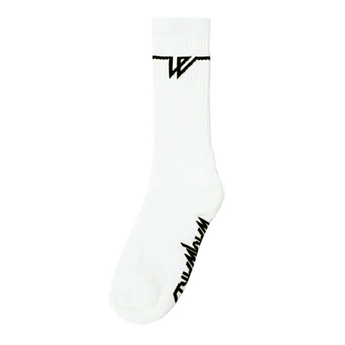 WAYWARD ソックス LOWGO SOCKS - WHITE/WAYWARD LONDON