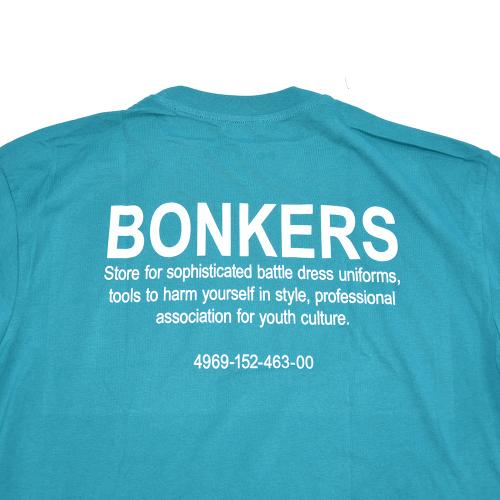 "BONKERS Tシャツ ""MILITARY S/S TEE - TEAL"""