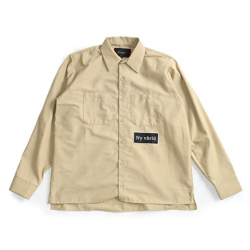 "clumsy. Pictures x REDKAP 長袖シャツ ""CUTOFF L/S SHIRTS - BEIGE""/clumsy. PICTURES"