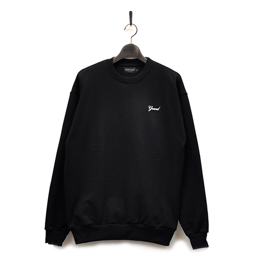 "GRAND COLLECTION スエット ""GRAND SCRIPT PREMIUM CREWNECK - BLACK""/GRAND COLLECTION"